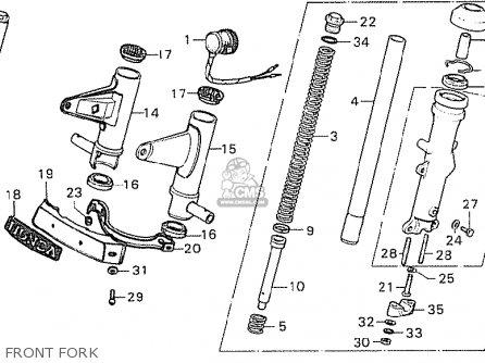 Honda CB750K7 FOUR ENGLAND parts lists and schematics