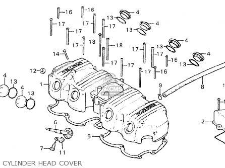 Honda Cb750k7 Four France parts list partsmanual partsfiche