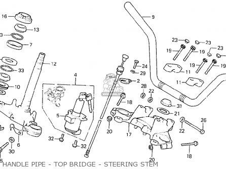 Honda Cb750k7 Four General Export Mph parts list