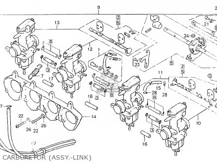 Honda CB750K7 FOUR USA parts lists and schematics