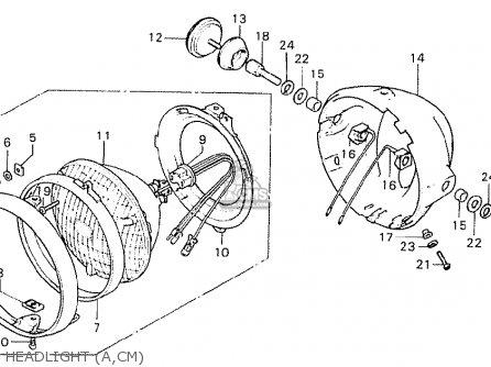 Honda CB750K7 FOUR USA parts lists and schematics