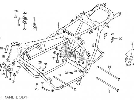 Honda Cb750k8 Four Canada parts list partsmanual partsfiche