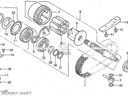 Honda Cb750kz 1979 Four (general Export Mph) parts list