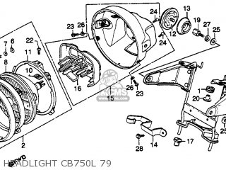 Honda CB750L LIMITED 1979 (Z) USA parts lists and schematics