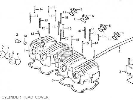 Honda CB750P7 GENERAL EXPORT TYPE 5 MPH parts lists and