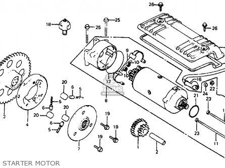 Honda CB750SC NIGHTHAWK 750 1982 (C) USA parts lists and