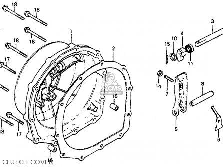 Honda Cb750sc Nighthawk 750 1982 Usa parts list