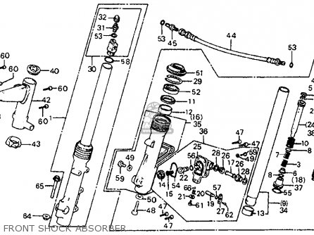 Honda CB750SC NIGHTHAWK 750 1983 (D) USA parts lists and