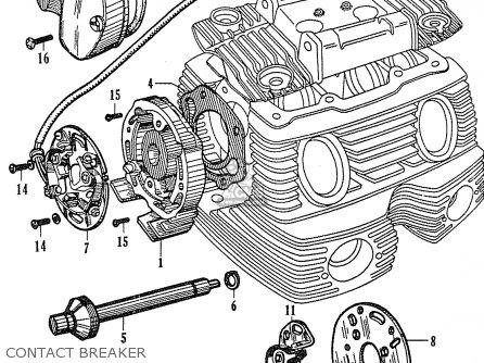 Honda Cb77 General Export (142683) parts list partsmanual