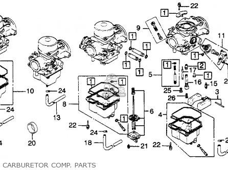 Honda CB900C 900 CUSTOM 1980 (A) USA parts lists and