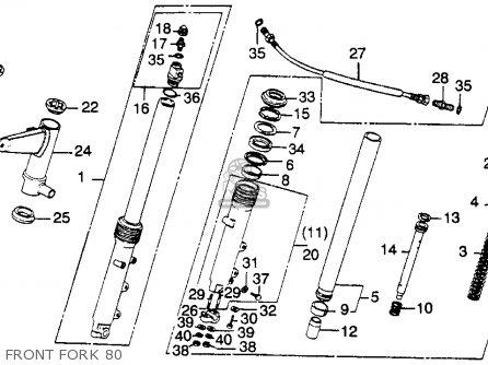 Honda Cb900c 900 Custom 1980 Usa parts list partsmanual