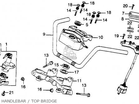 Honda Cb900c 900 Custom 1981 (b) Usa parts list