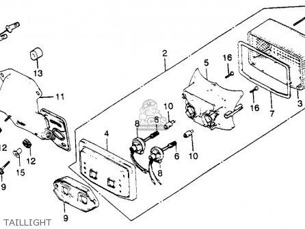 Honda CB900C 900 CUSTOM 1981 (B) USA parts lists and