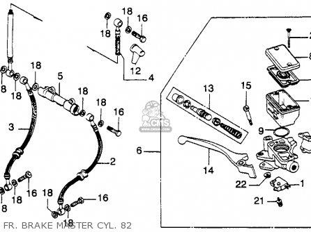 Honda Cb900c 900 Custom 1982 (c) Usa parts list
