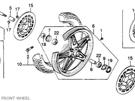 Honda CB900C 900 CUSTOM 1982 (C) USA parts lists and