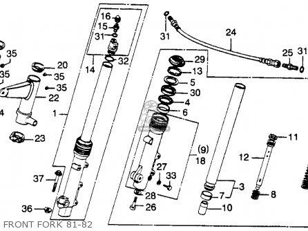 Honda Cb900c 900 Custom 1982 Usa parts list partsmanual