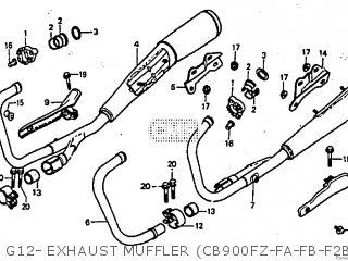 Honda CB900F 1980 (A) parts lists and schematics
