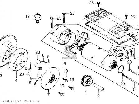 Honda Cb900f 900 Super Sport 1981 Usa parts list