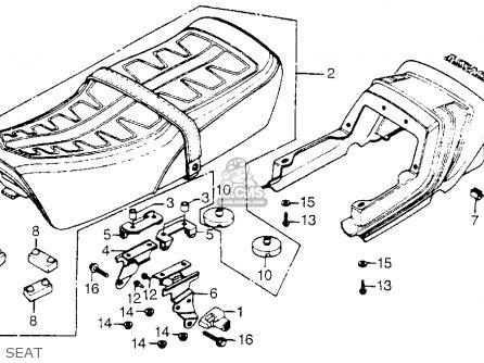 Honda CB900F 900 SUPER SPORT 1982 (C) USA parts lists and