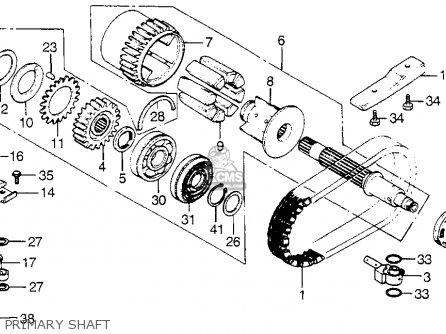 Honda Cb900f 900 Super Sport 1982 Usa parts list