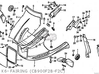 Honda CB900F TYPE2 1982 (C) parts lists and schematics