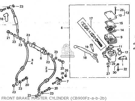 Honda CB900F2B BOL D'OR parts lists and schematics