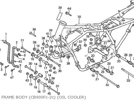 Honda Cb900f2c Bol D'or parts list partsmanual partsfiche