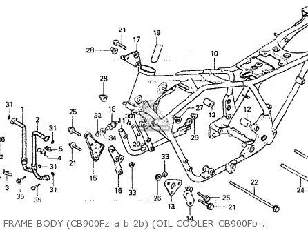 Honda Cb900fa Bol D'or parts list partsmanual partsfiche