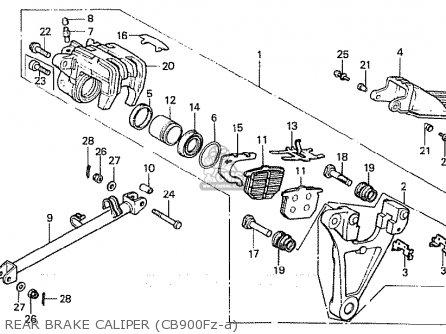 Honda CB900FA BOL D'OR parts lists and schematics