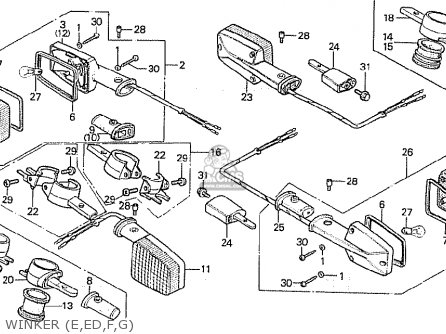 Honda CB900FA BOL D'OR parts lists and schematics
