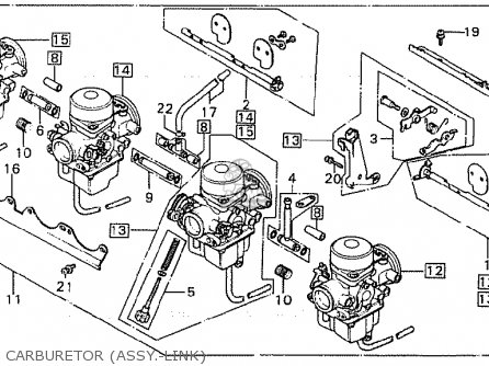 Honda Cb900fc Bol D'or parts list partsmanual partsfiche