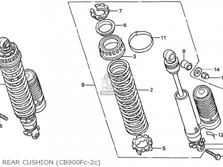 Honda Cb900fc Bol D'or parts list partsmanual partsfiche