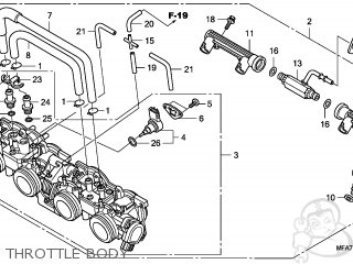 Honda CBF1000 2006 (6) ENGLAND parts lists and schematics