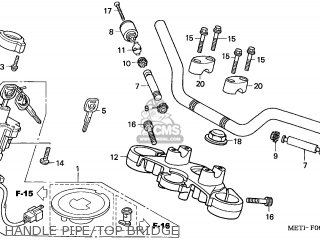 Honda CBF500 2006 (6) ENGLAND parts lists and schematics