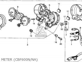 Honda CBF600N 2006 (6) ENGLAND parts lists and schematics