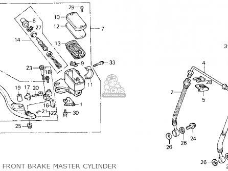 Honda Cbr1000f 1000 Hurricane 1987 Usa parts list