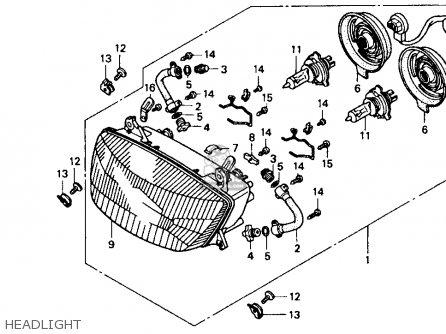 Honda Cbr1000f 1000 Hurricane 1990 (l) Usa parts list