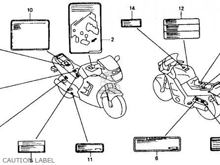 Honda Cbr1000f 1000 Hurricane 1990 Usa parts list