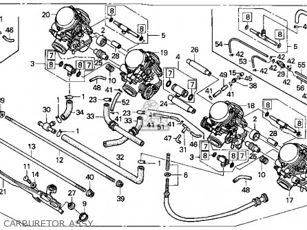 Honda Cbr1000f 1000 Hurricane 1993 Usa parts list