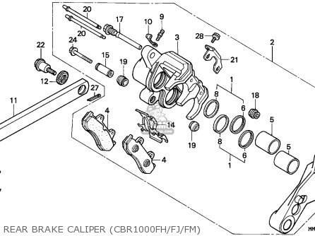 Honda Cbr1000f 1988 England parts list partsmanual partsfiche