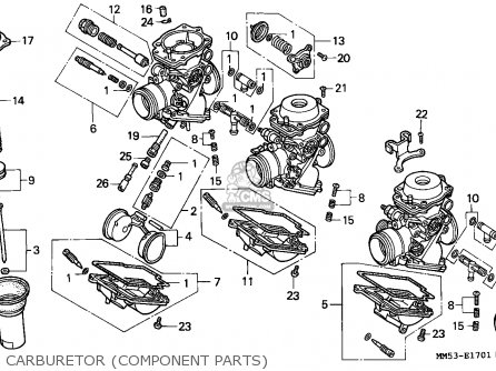 Honda Cbr1000f 1989 Australia / Db parts list partsmanual