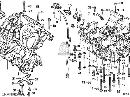 Honda Cbr1000f 1989 (k) Italy parts list partsmanual