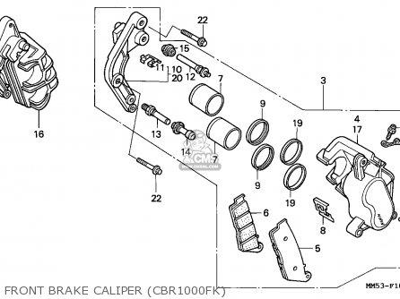 Honda CBR1000F 1989 (K) SWITZERLAND / DB parts lists and