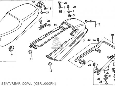 Honda Cbr1000f 1989 Switzerland parts list partsmanual
