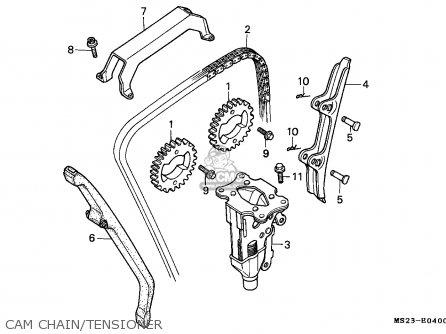 Honda Cbr1000f 1990 France / Yb parts list partsmanual