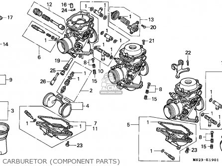 Honda Cbr1000f 1990 (l) England parts list partsmanual