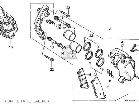 Honda Cbr1000f 1990 (l) England parts list partsmanual