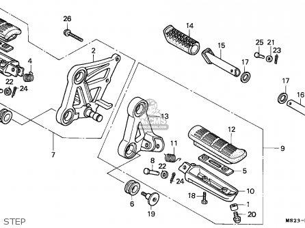 Honda CBR1000F 1990 (L) EUROPEAN DIRECT SALES parts lists