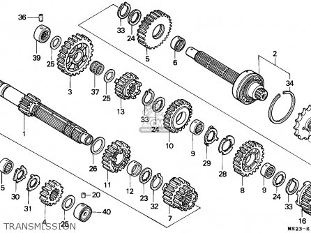 Honda Cbr1000f 1990 (l) France / Yb parts list partsmanual