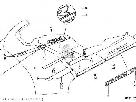 Honda CBR1000F 1990 (L) ITALY parts lists and schematics